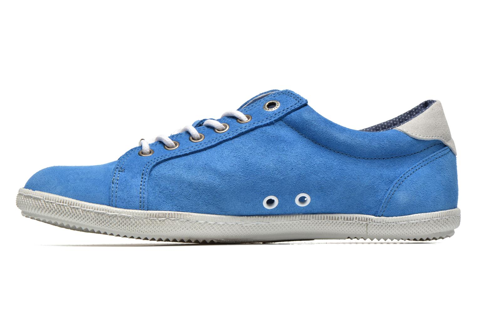 Baskets Pepe jeans Wiiliam Low Bleu vue face