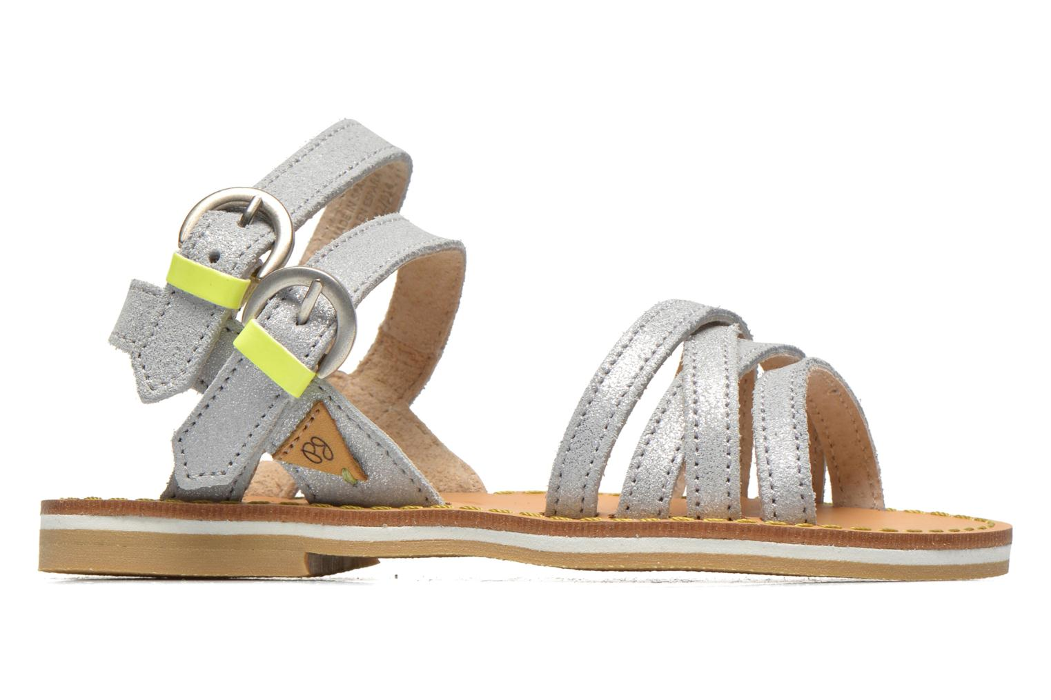 Sandals Pepe jeans Tracy Basic K Silver back view