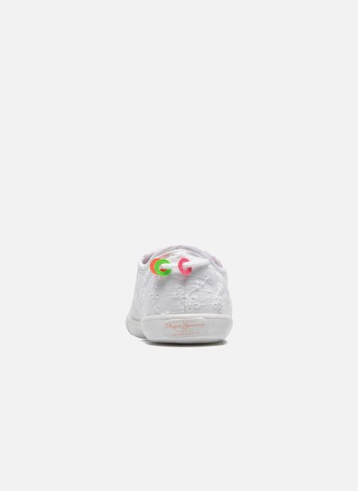 Baskets Pepe jeans Soho Embroidery Blanc vue droite