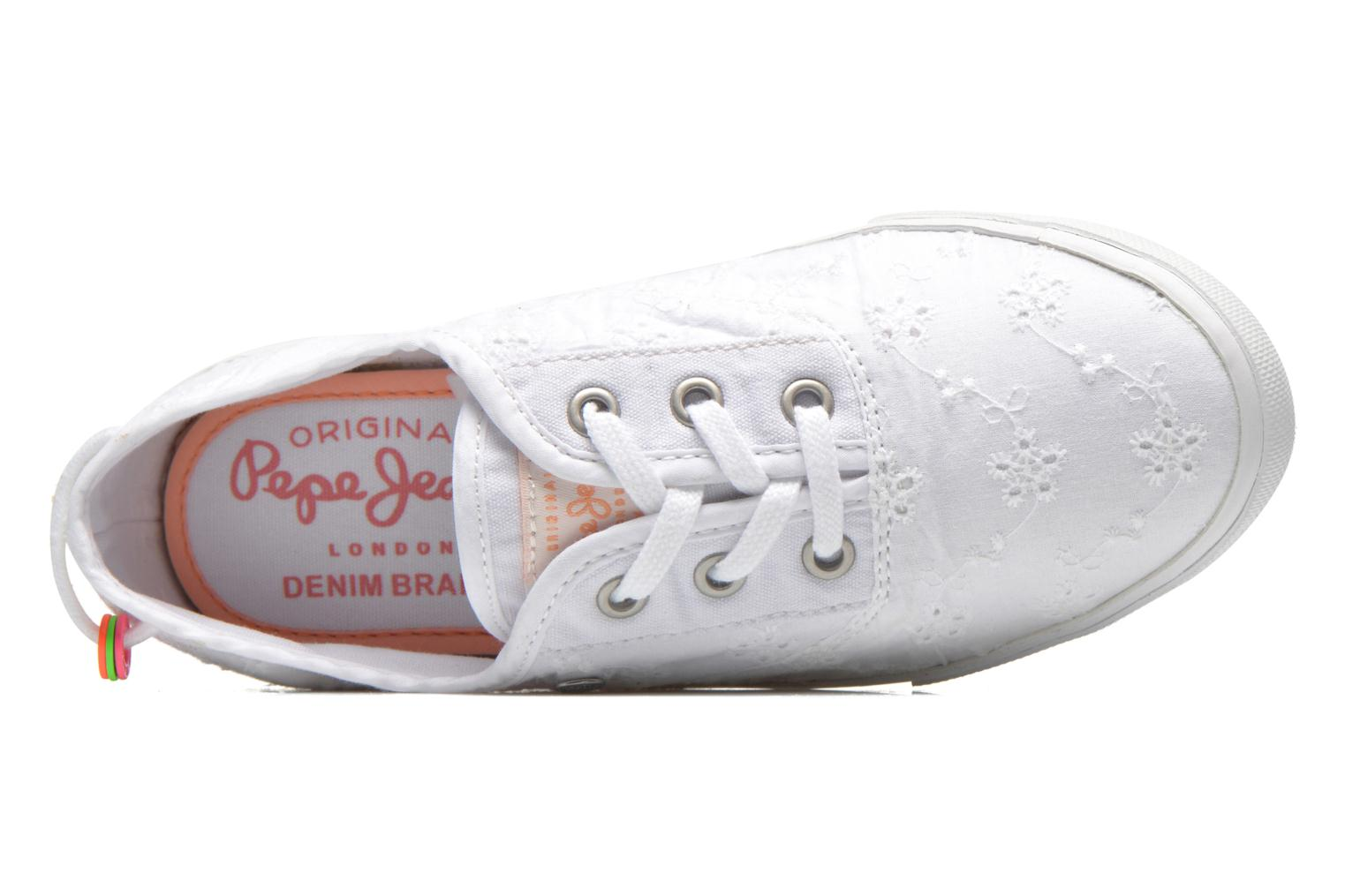Baskets Pepe jeans Soho Embroidery Blanc vue gauche