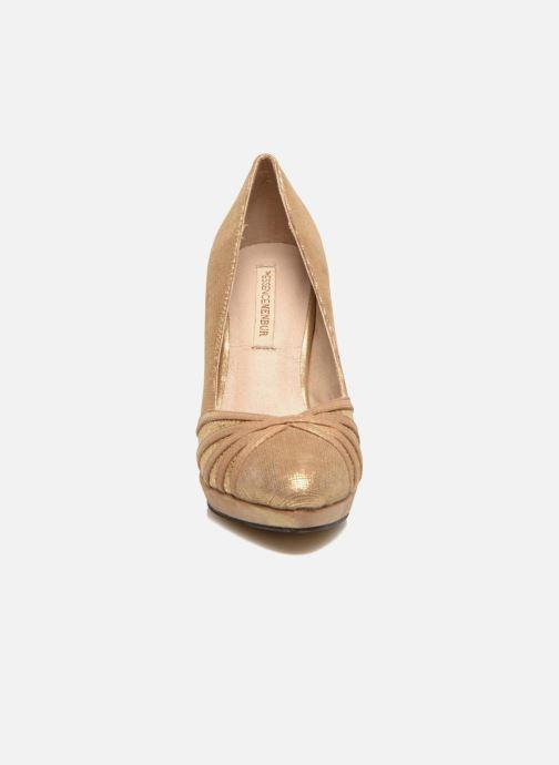Escarpins Menbur Lisle Or et bronze vue portées chaussures