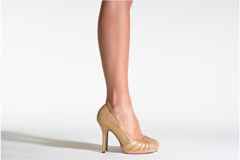 Zapatos de tacón Menbur Lisle Oro y bronce vista de abajo