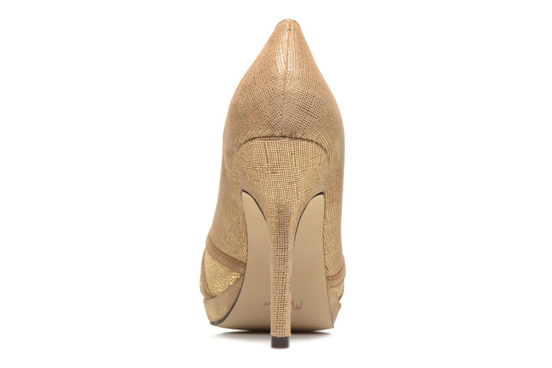 Zapatos de tacón Menbur Lisle Oro y bronce vista lateral derecha