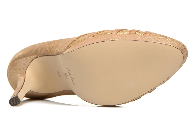 Zapatos de tacón Menbur Lisle Oro y bronce vista de arriba