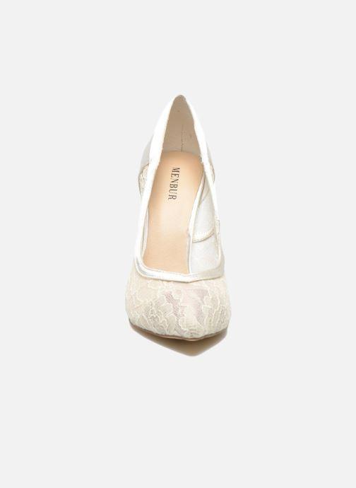 Escarpins Menbur Begona Blanc vue portées chaussures