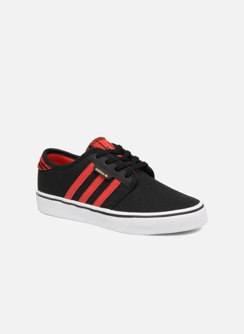 Baskets adidas originals Seeley J Noir vue détail/paire