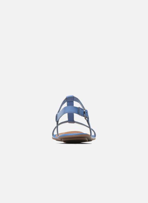 Sandales et nu-pieds Clarks Risi Hop Bleu vue droite
