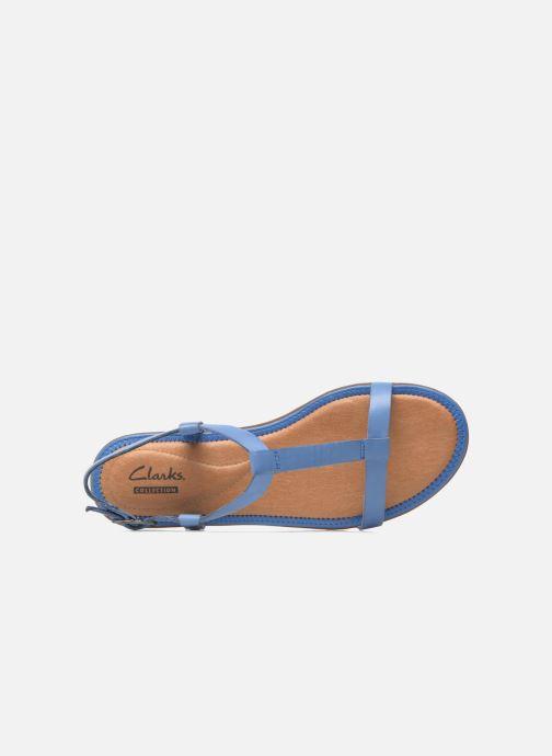 Sandales et nu-pieds Clarks Risi Hop Bleu vue gauche