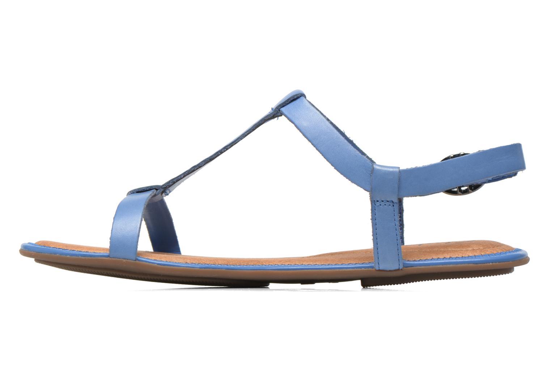 Sandales et nu-pieds Clarks Risi Hop Bleu vue face