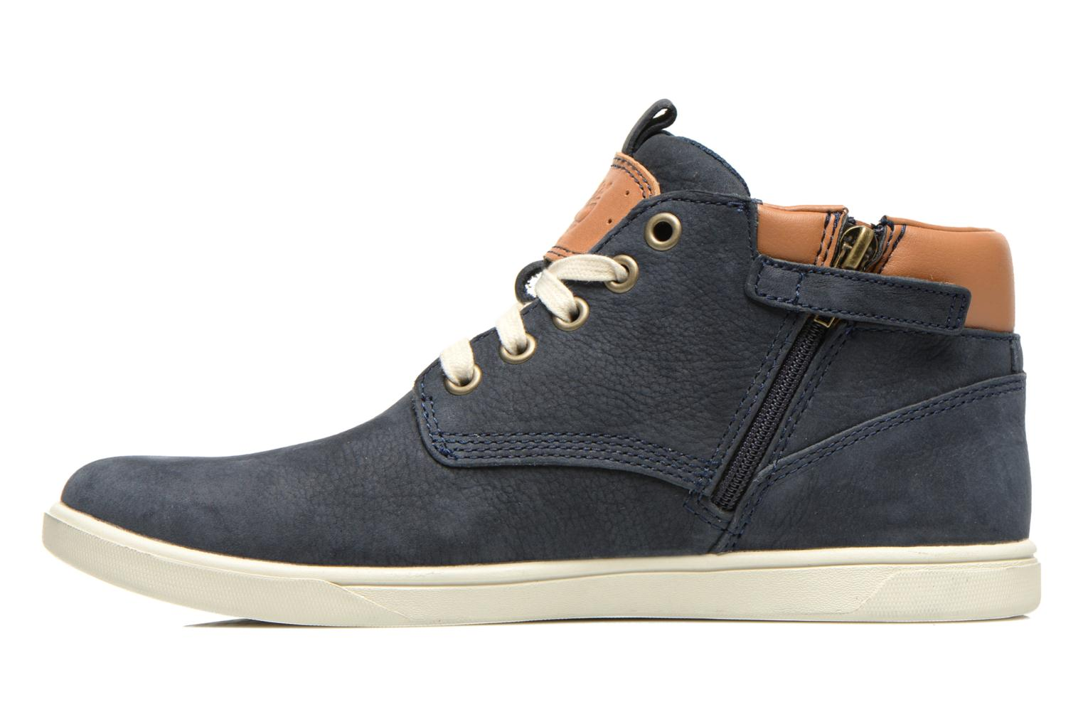 Baskets Timberland Groveton Leather Chukka Bleu vue face