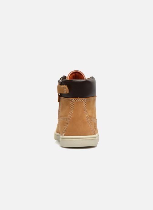 Bottines et boots Timberland Groveton 6In Lace with si Beige vue droite