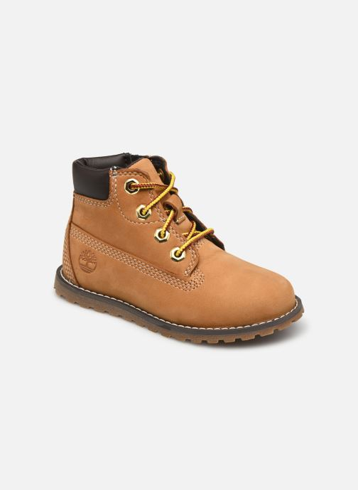 e80525c743472 Bottines et boots Timberland Pokey Pine 6In Boot with Beige vue détail paire