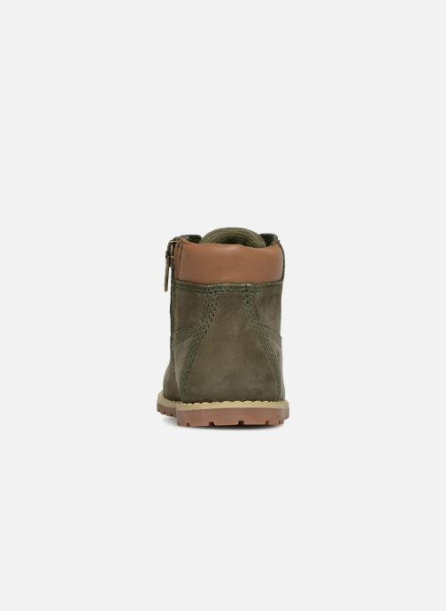 Botines  Timberland Pokey Pine 6In Boot with Verde vista lateral derecha