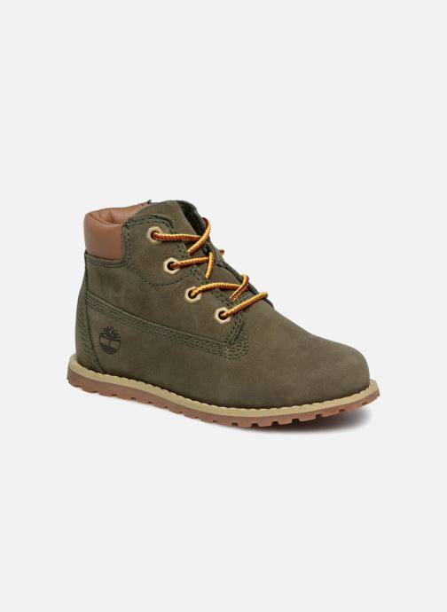 Bottines et boots Timberland Pokey Pine 6In Boot with Vert vue détail/paire