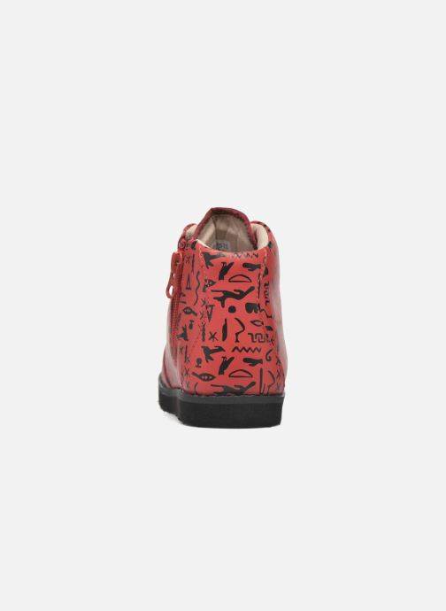 Ankle boots Akid Jasper Red view from the right