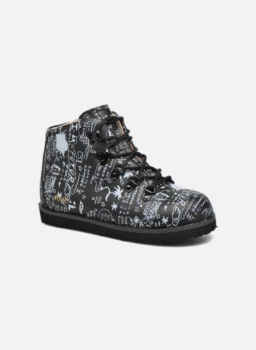 Boots en enkellaarsjes Akid Jasper Zwart detail