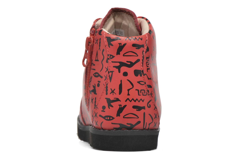 Bottines et boots Akid Jasper Rouge vue droite