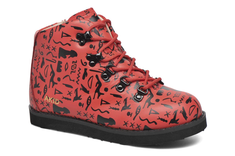 Bottines et boots Akid Jasper Rouge vue détail/paire