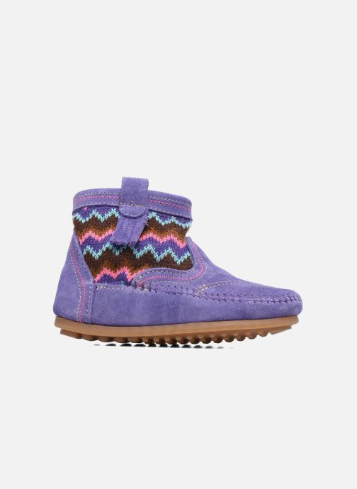 Ankle boots Minnetonka Aspen Boot Purple back view