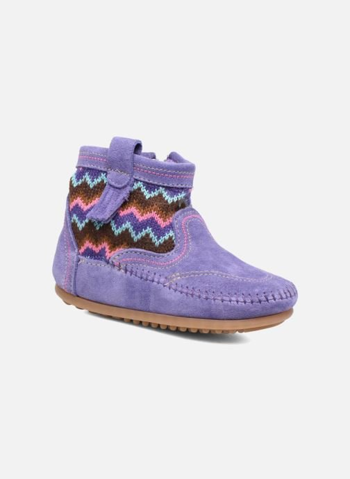 Ankle boots Minnetonka Aspen Boot Purple detailed view/ Pair view