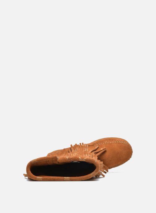 Laarzen Minnetonka Star 3 Layer Bruin links