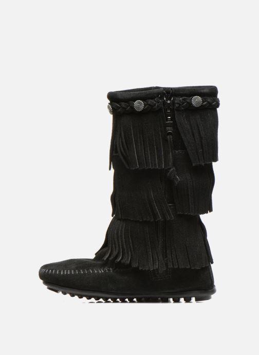 Stiefel Minnetonka 3-Layer schwarz ansicht von vorne