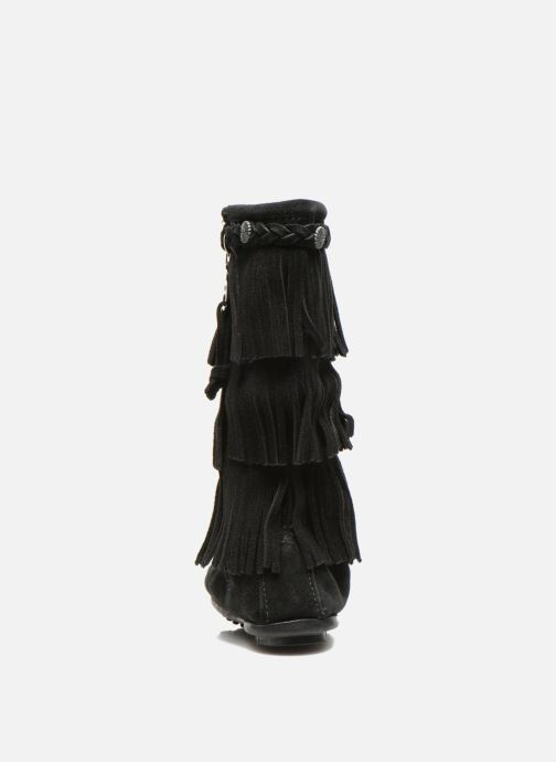 Botas Minnetonka 3-Layer Negro vista lateral derecha
