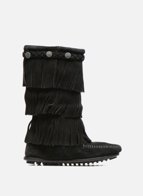 Stiefel Minnetonka 3-Layer schwarz ansicht von hinten
