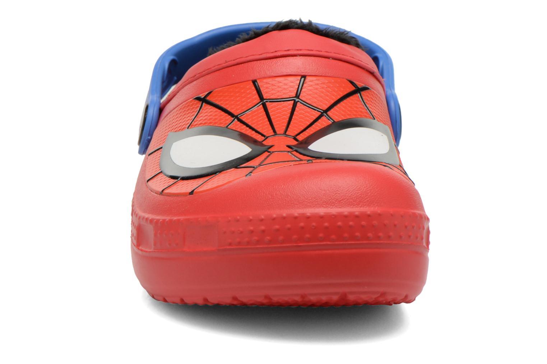Sandales et nu-pieds Crocs CC Spiderman Lined Clog Rouge vue portées chaussures