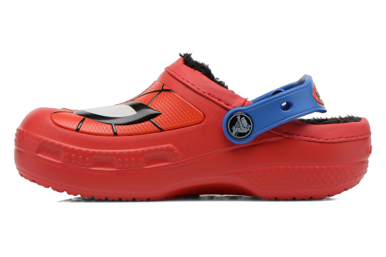 Sandales et nu-pieds Crocs CC Spiderman Lined Clog Rouge vue face