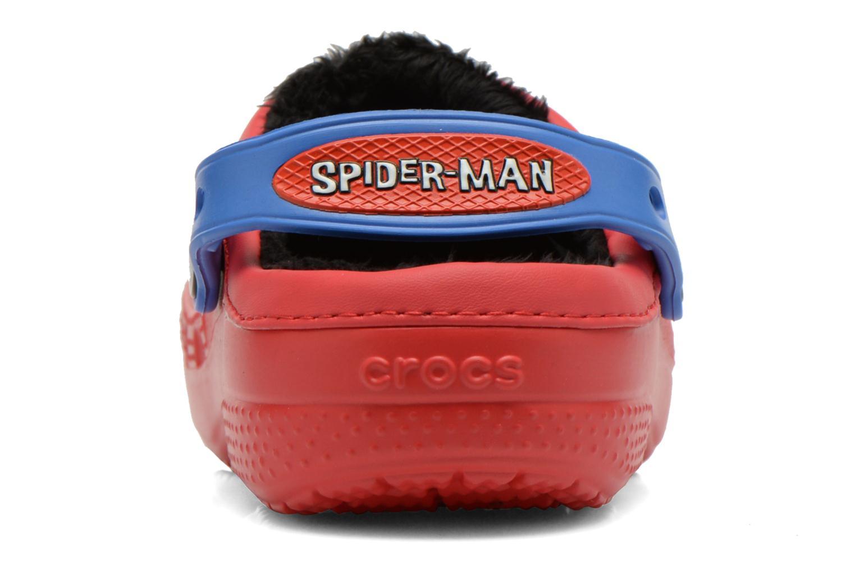 Sandales et nu-pieds Crocs CC Spiderman Lined Clog Rouge vue droite