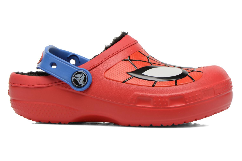 Sandales et nu-pieds Crocs CC Spiderman Lined Clog Rouge vue derrière