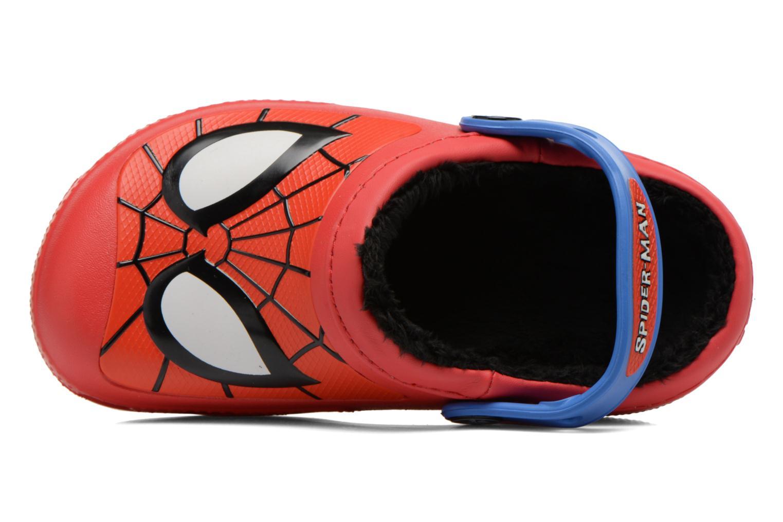 Sandales et nu-pieds Crocs CC Spiderman Lined Clog Rouge vue gauche