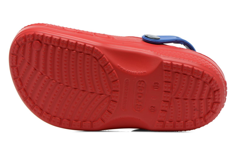 Sandales et nu-pieds Crocs CC Spiderman Lined Clog Rouge vue haut
