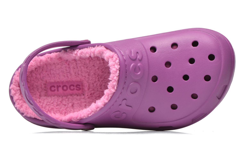 Sandales et nu-pieds Crocs Crocs Hilo Lined Clog K Violet vue gauche