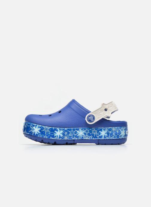 Sandals Crocs CrocsLights Frozen Clog K Blue front view