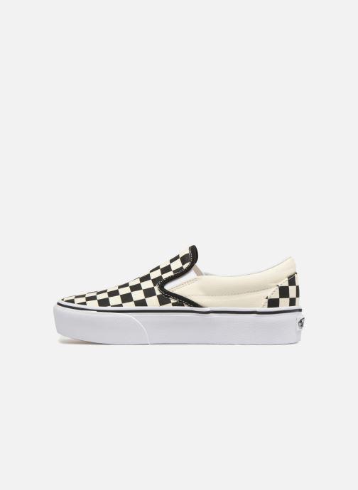 Sneakers Vans Classic Slip-On Platform Zwart voorkant