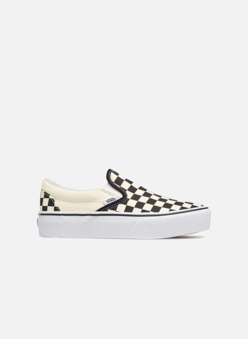 Sneakers Vans Classic Slip-On Platform Zwart achterkant