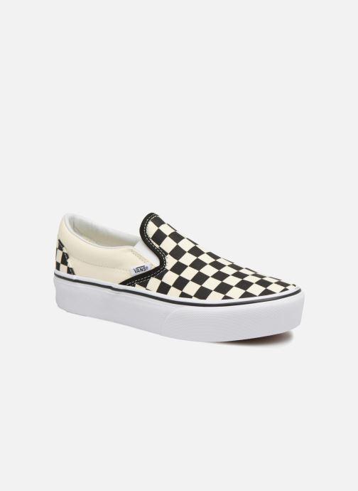 Sneakers Vans Classic Slip-On Platform Zwart detail