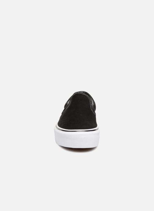 Sneaker Vans Classic Slip-On Platform schwarz schuhe getragen