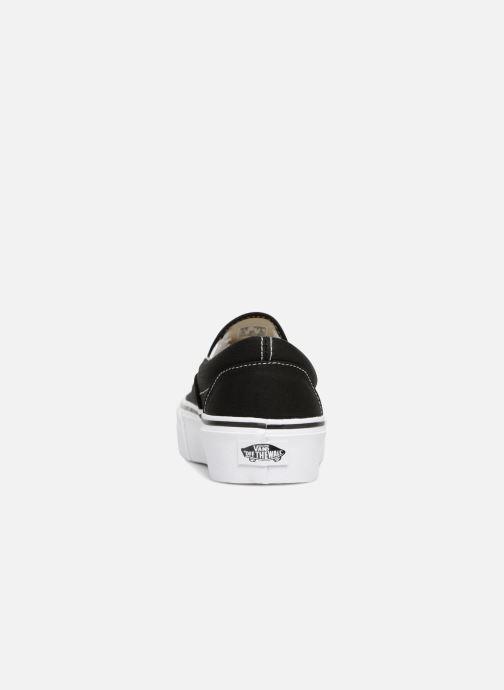 Sneaker Vans Classic Slip-On Platform schwarz ansicht von rechts