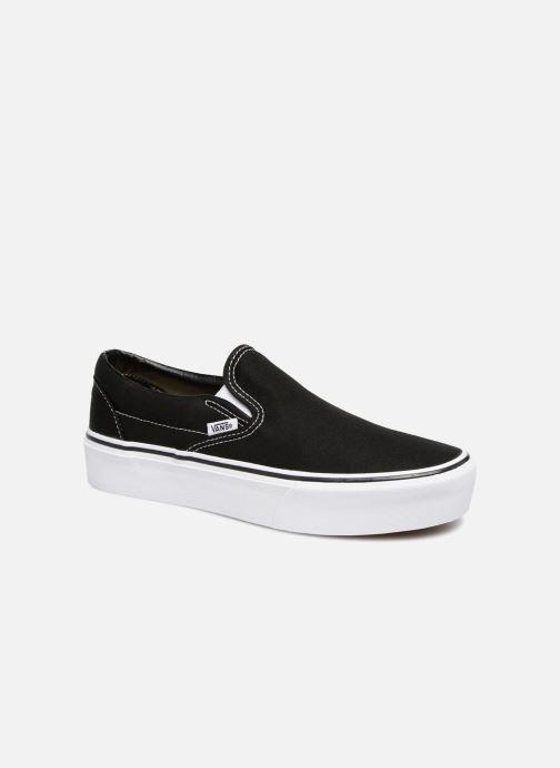 Sneaker Vans Classic Slip-On Platform schwarz detaillierte ansicht/modell