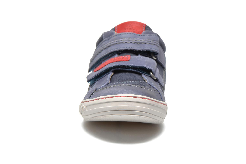 Chaussures à scratch Kickers JIUKID Bleu vue portées chaussures
