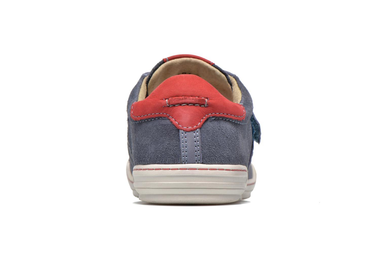 Chaussures à scratch Kickers JIUKID Bleu vue droite