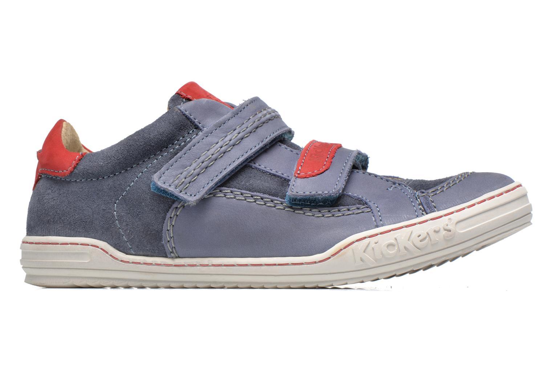 Chaussures à scratch Kickers JIUKID Bleu vue derrière