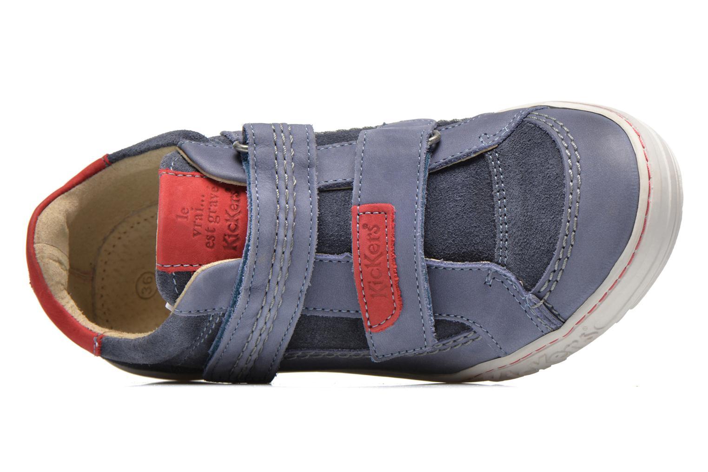 Scarpe con gli strappi Kickers JIUKID Azzurro immagine sinistra
