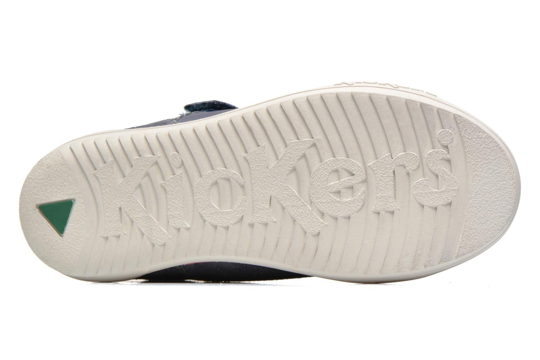 Chaussures à scratch Kickers JIUKID Bleu vue haut