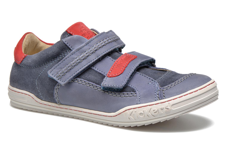 Chaussures à scratch Kickers JIUKID Bleu vue détail/paire
