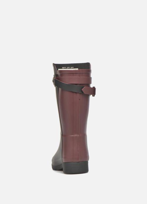 Bottines et boots Hunter Original refined Back Strap Short Noir vue droite