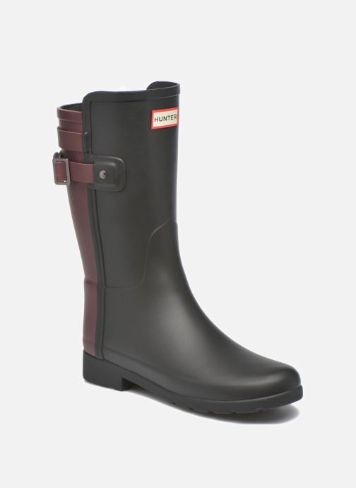 Bottines et boots Hunter Original refined Back Strap Short Noir vue détail/paire